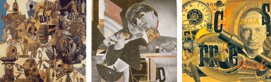 Usage of photomontage technique in many of Dadaism works.