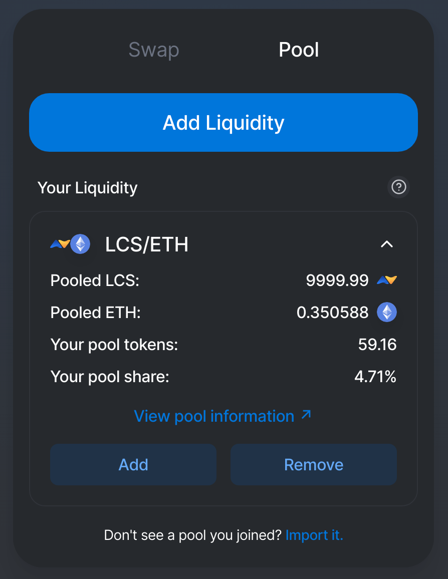 monitoring your pool liquidity on Uniswap
