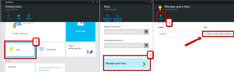 Azure Search Query Keys