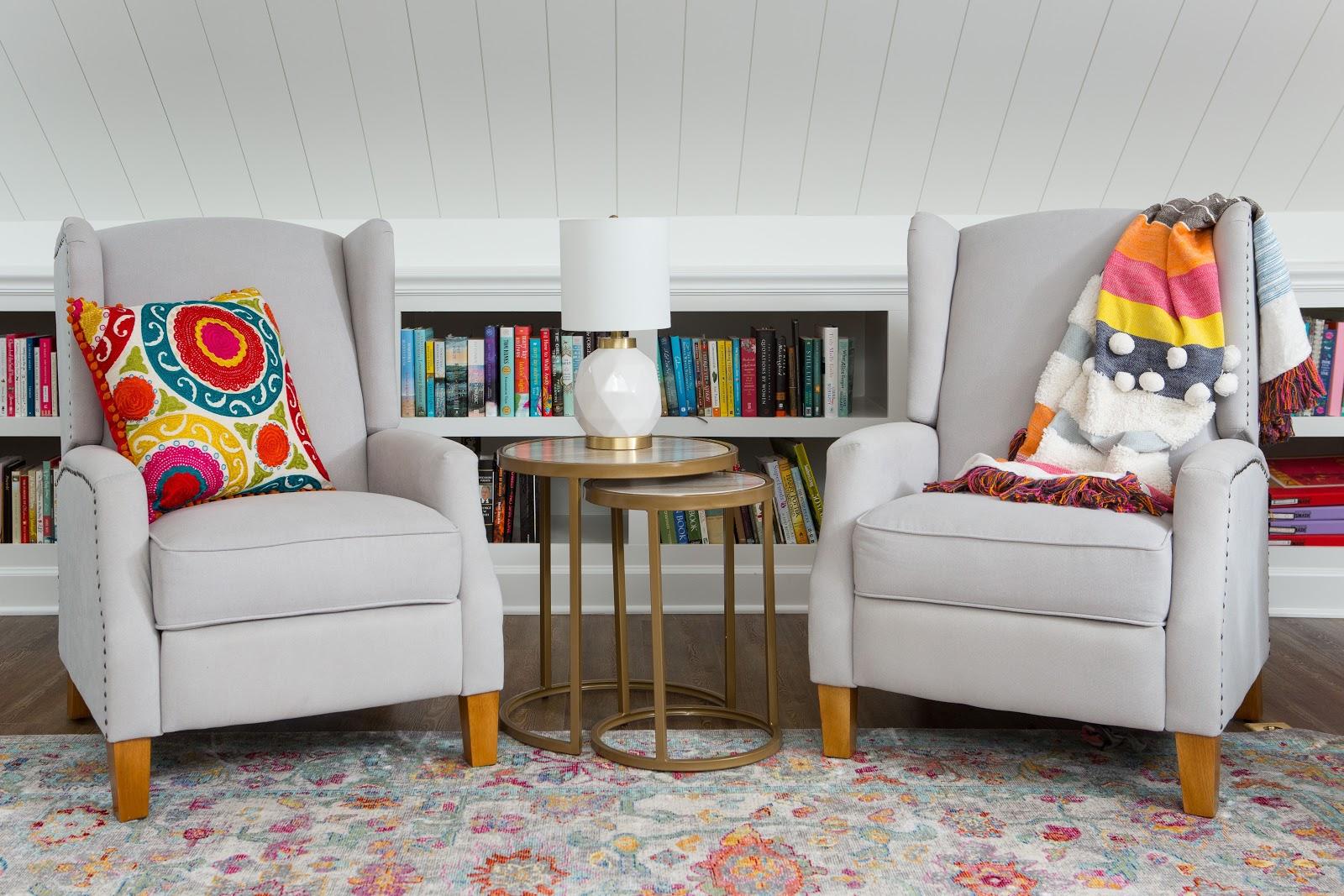 bonus room builtin bookshelf reading nook color classic traditional style interior design lebanon tn