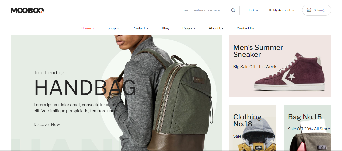 Mooboo - Handbags store shopify theme