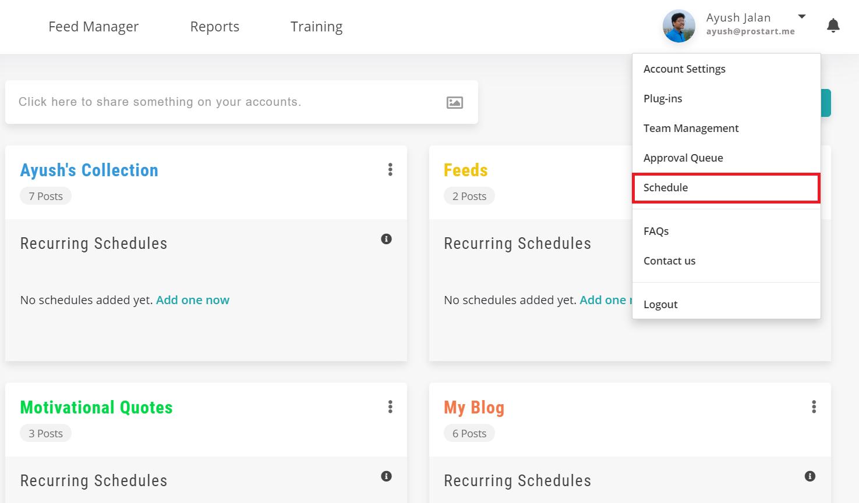 schedule - recurpost - social media scheduler