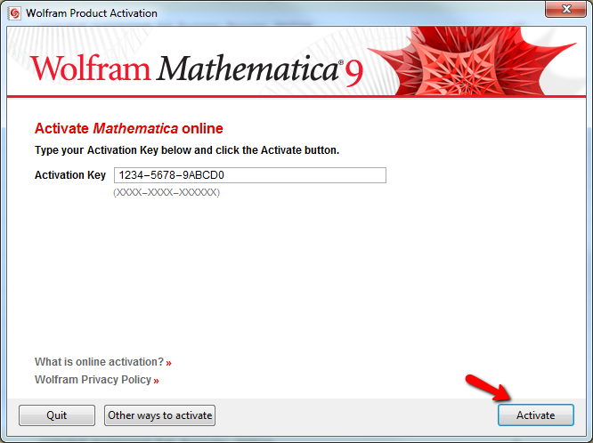 Activate Wolfram Key