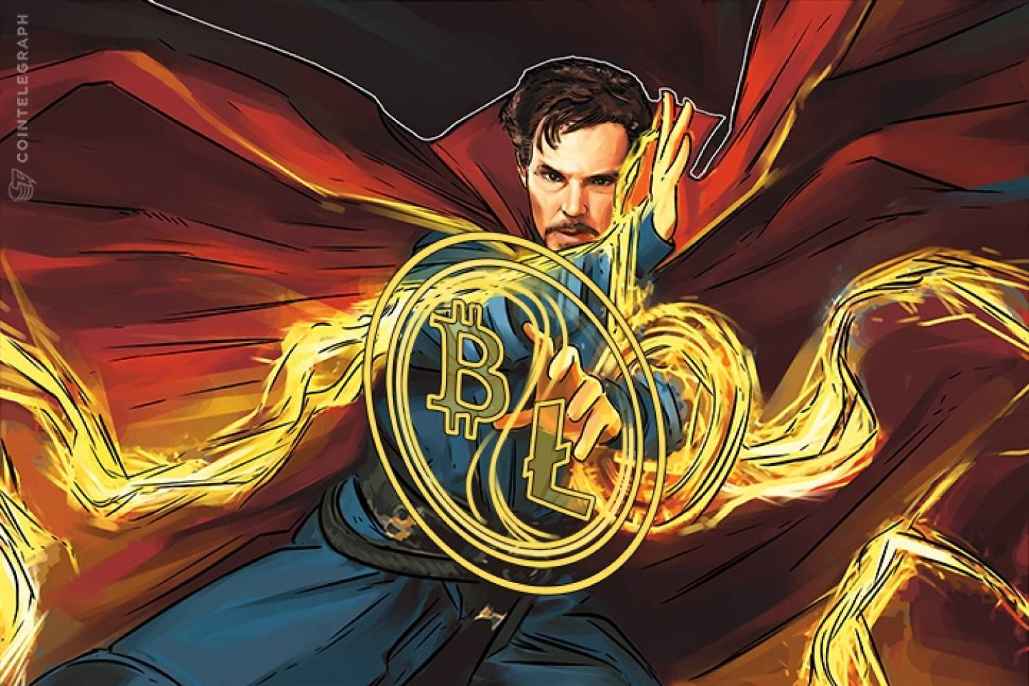 Doctor Strange with Bitcoin and Litecoin