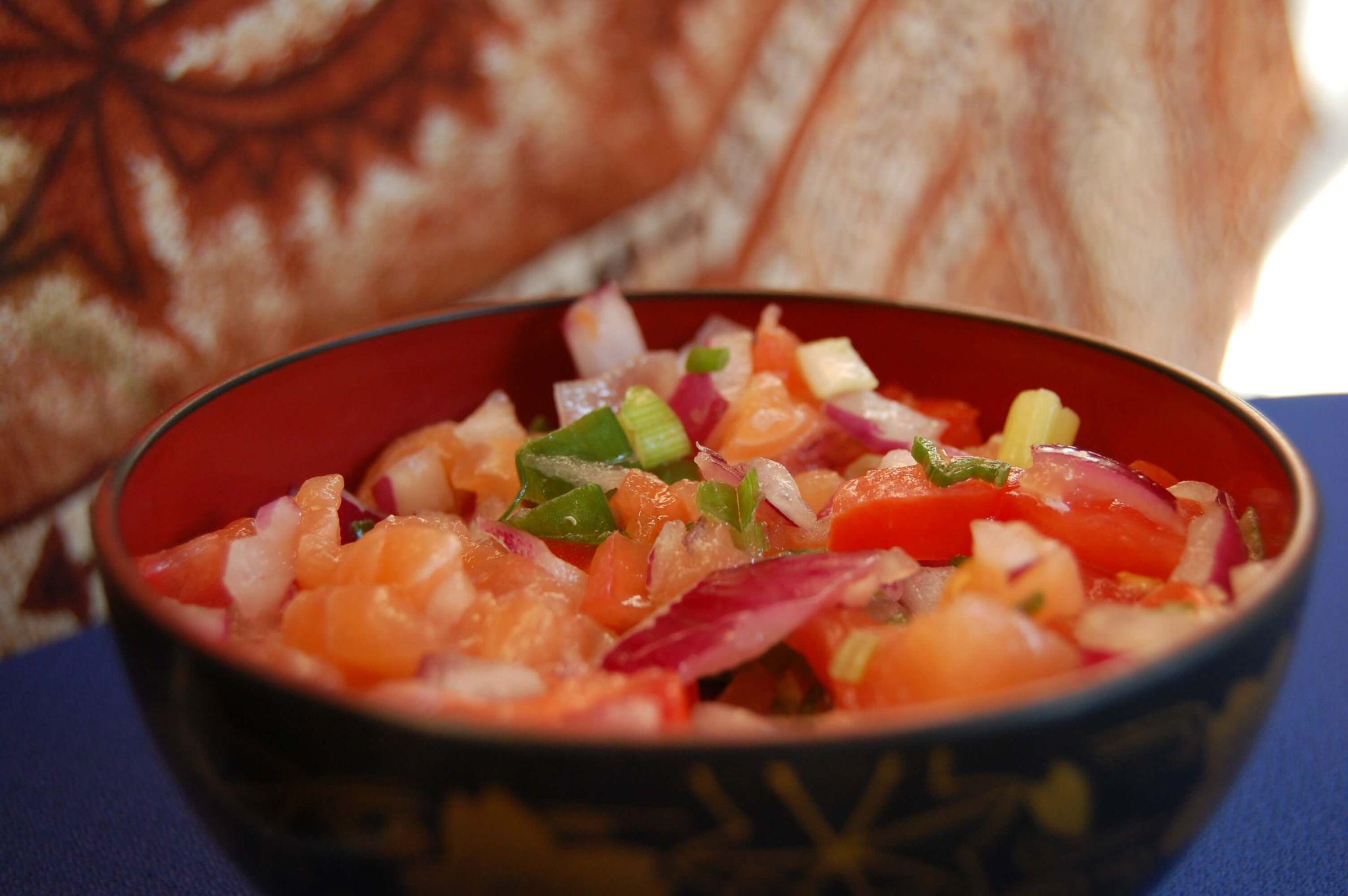 Lomi Lomi Salmon, classic Hawaiian dish