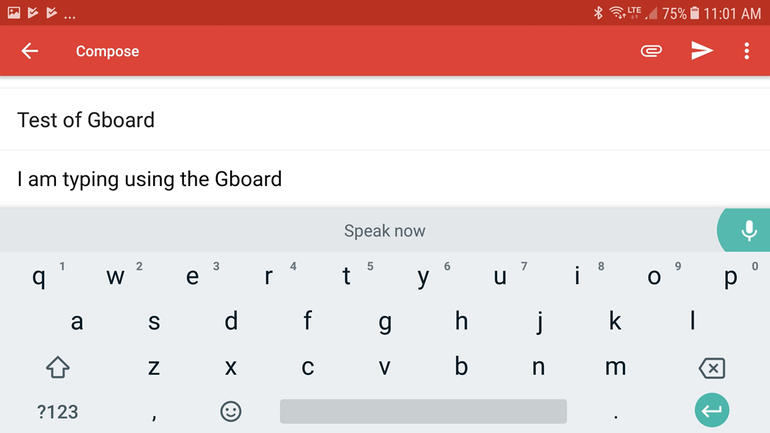 Gboard voice to text app