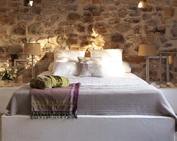 Charming Stone for Tropical Bedroom