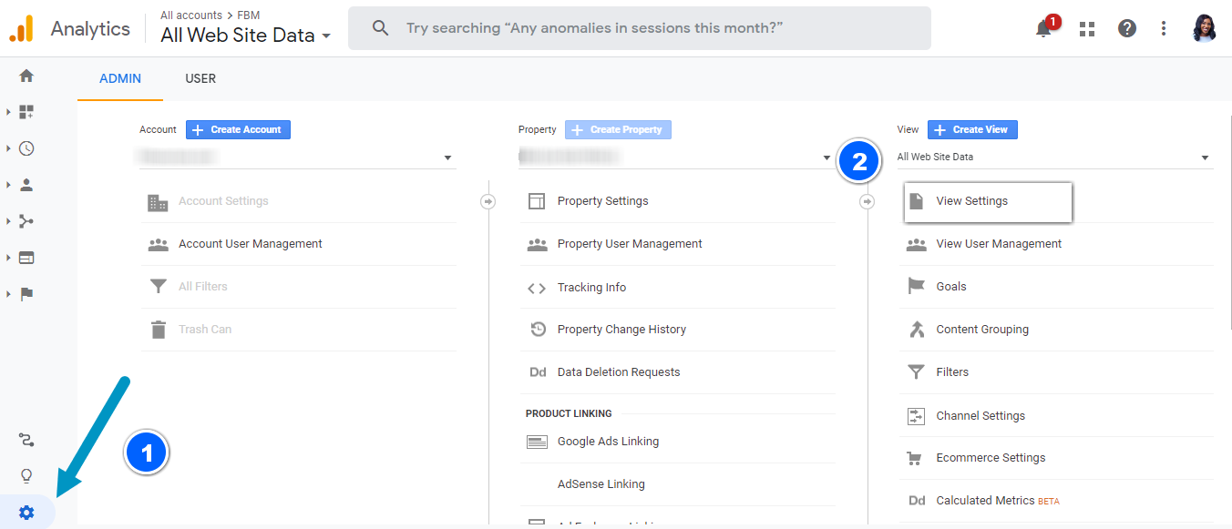 screenshot showing how to filter bot traffic (a google analytics tracking mistake)