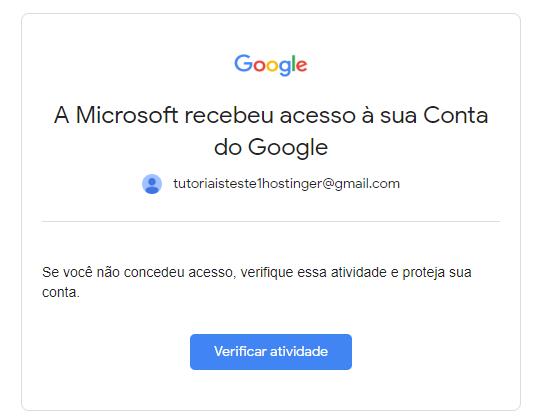 verificar atividade do Gmail