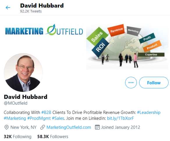 Twitter bio ideas - link to other accounts