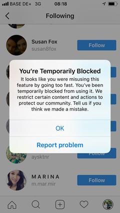 message-instagram-restriction-abonnement-follow/unfollow