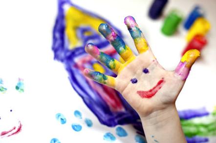 tinta caseira comestível colorida