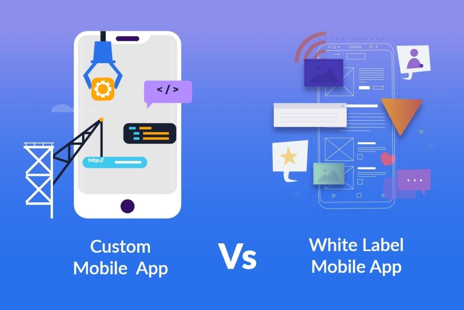 white label mobile app vs custom mobile app