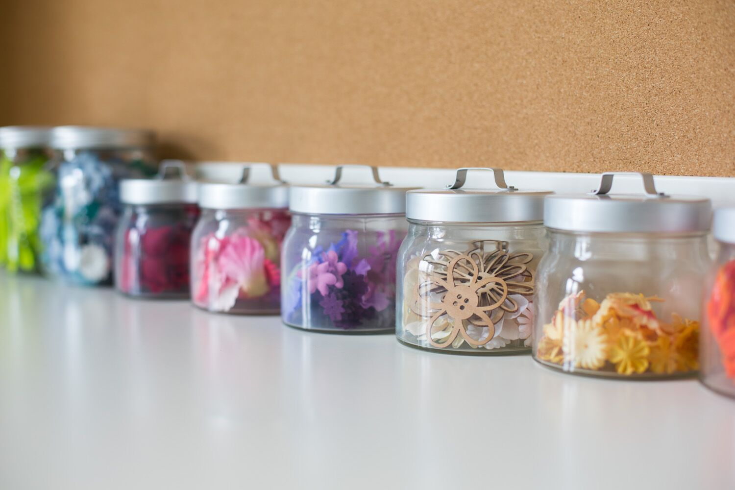 jars crafts organized home office desk creative entrepreneurs calgary coworking space