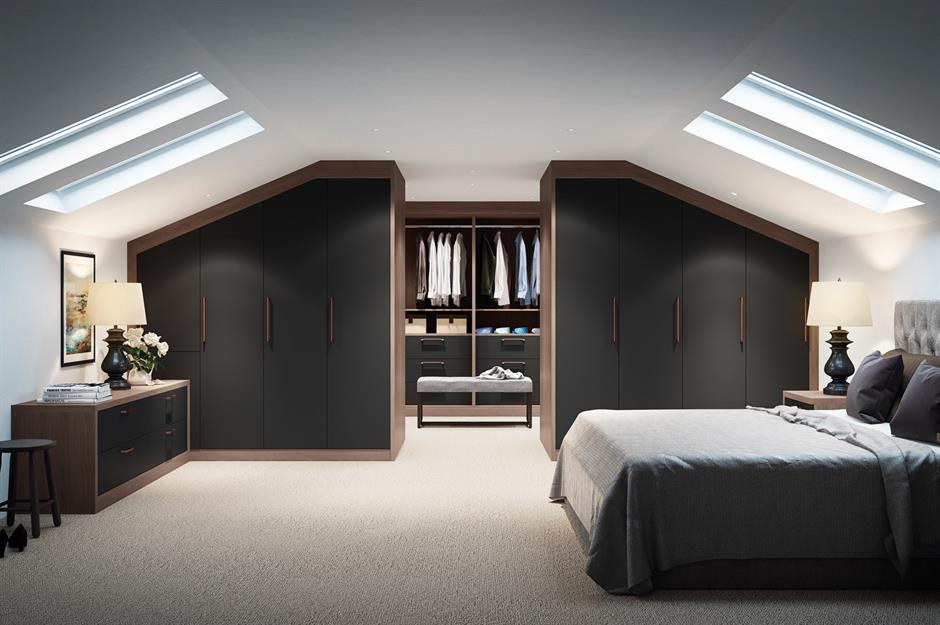 Attic Bedroom with Functional Closet