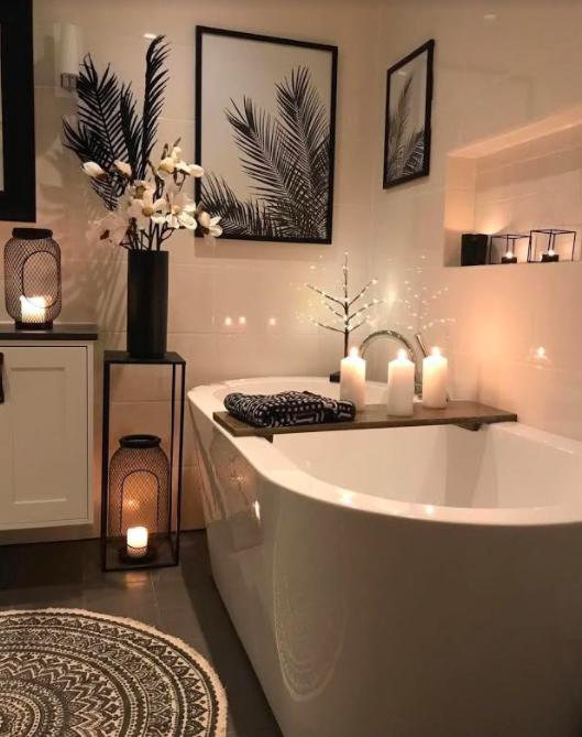 svece u kupatilu