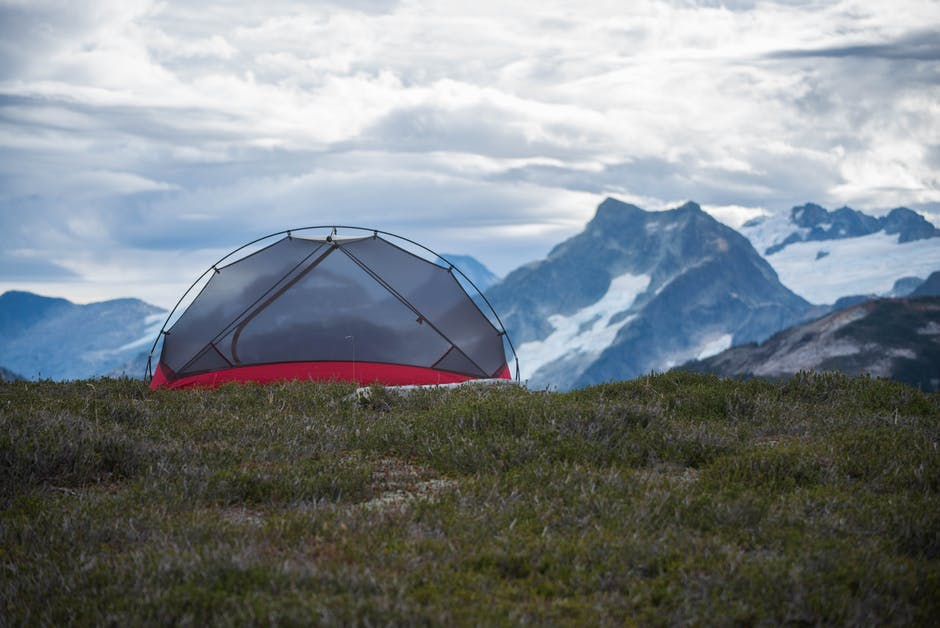 camping, mountains, tent