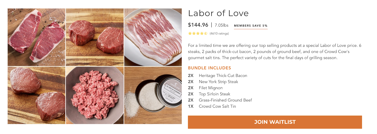 Crowd Cow's Labor of Love Bundle