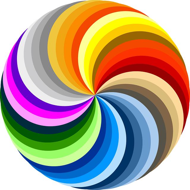 Swirl, Colorful, Rainbow
