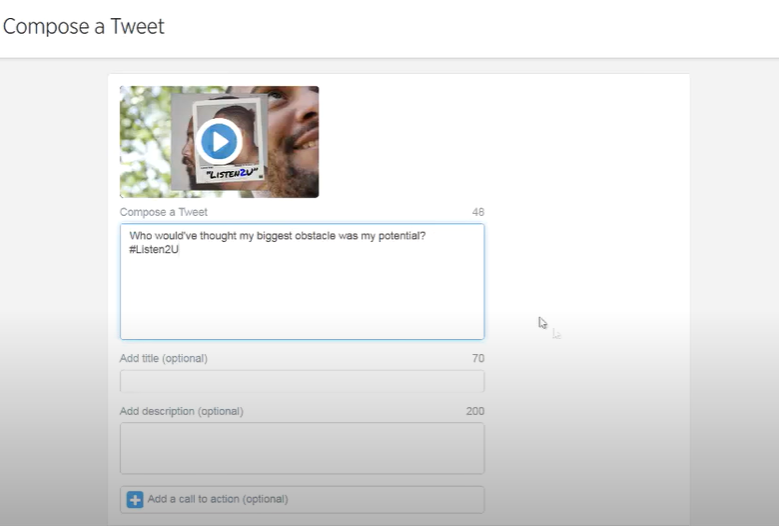 Compose a video Tweet
