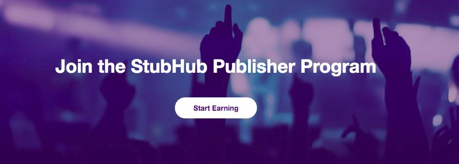 StubHub Publisher Program