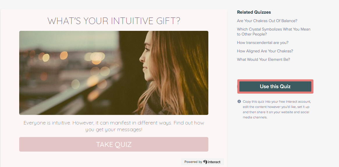What's your intuitive gift quiz template