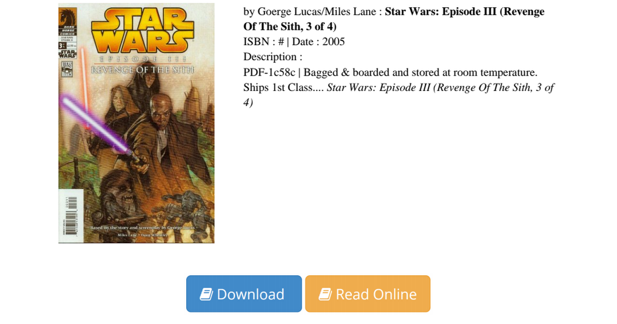 Star Wars Episode Revenge Sith Pdf 3e047fc44 Pdf Google Drive