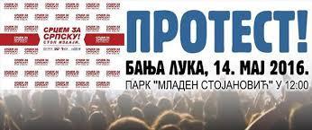 Image result for protesti u banjoj luci 14 maja 2016