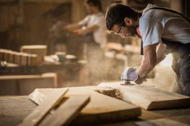 man working in a workshop