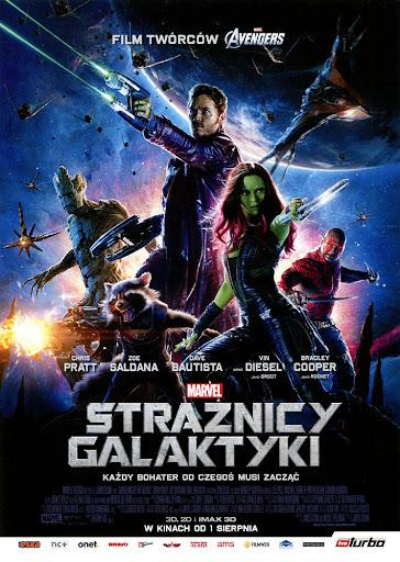 Przód ulotki filmu 'Strażnicy Galaktyki'