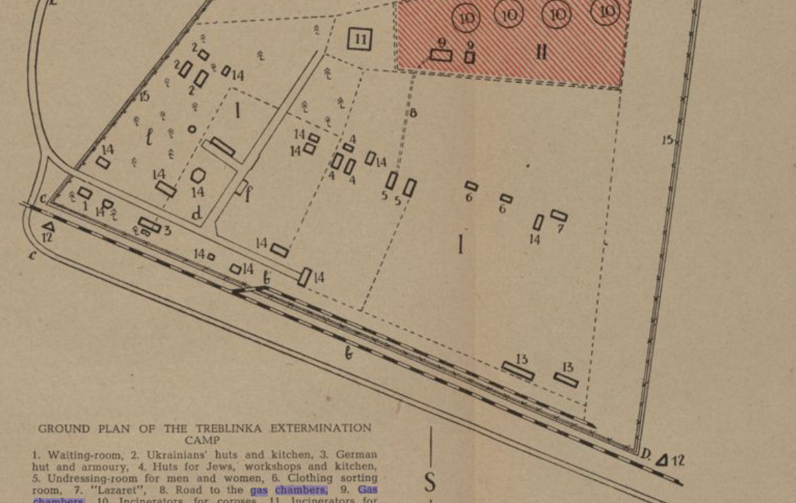 Ground Plan of the Treblinka Extermination Camp