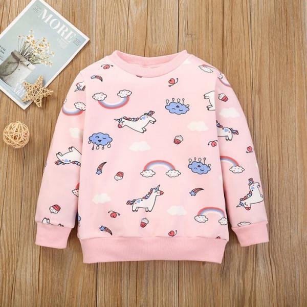 Toddler Girl Dreamy Unicorn World Sweatshirt