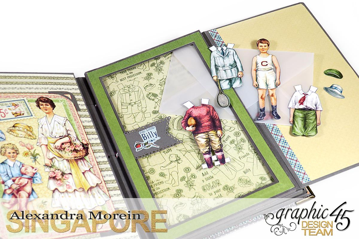 Paper Doll Play Set and Mini Album, Penny's Family Paper Doll, Tutorial by Alexandra Morein, Product by Graphic 45, Photo 14.jpg