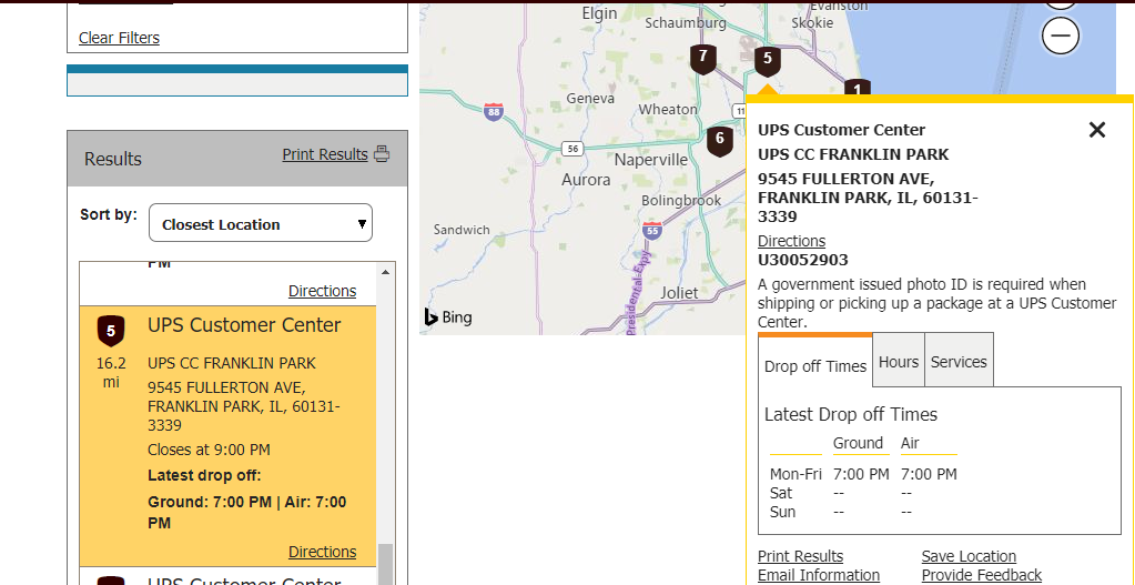 where is a ups store near me