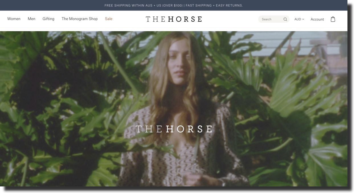 Horse website screenshot collection of leather lifestyle goods