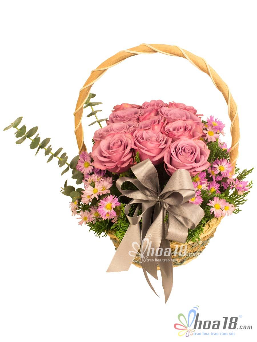 giỏ hoa tặng ngày lễ tình nhân