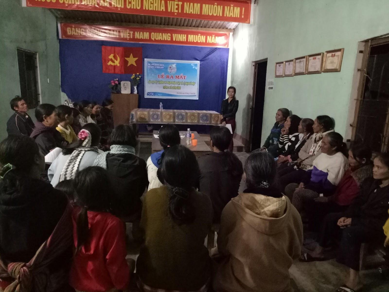 Tổ phụ nữ tự quản xã Diên Bình: Để xóm làng mãi bình yên