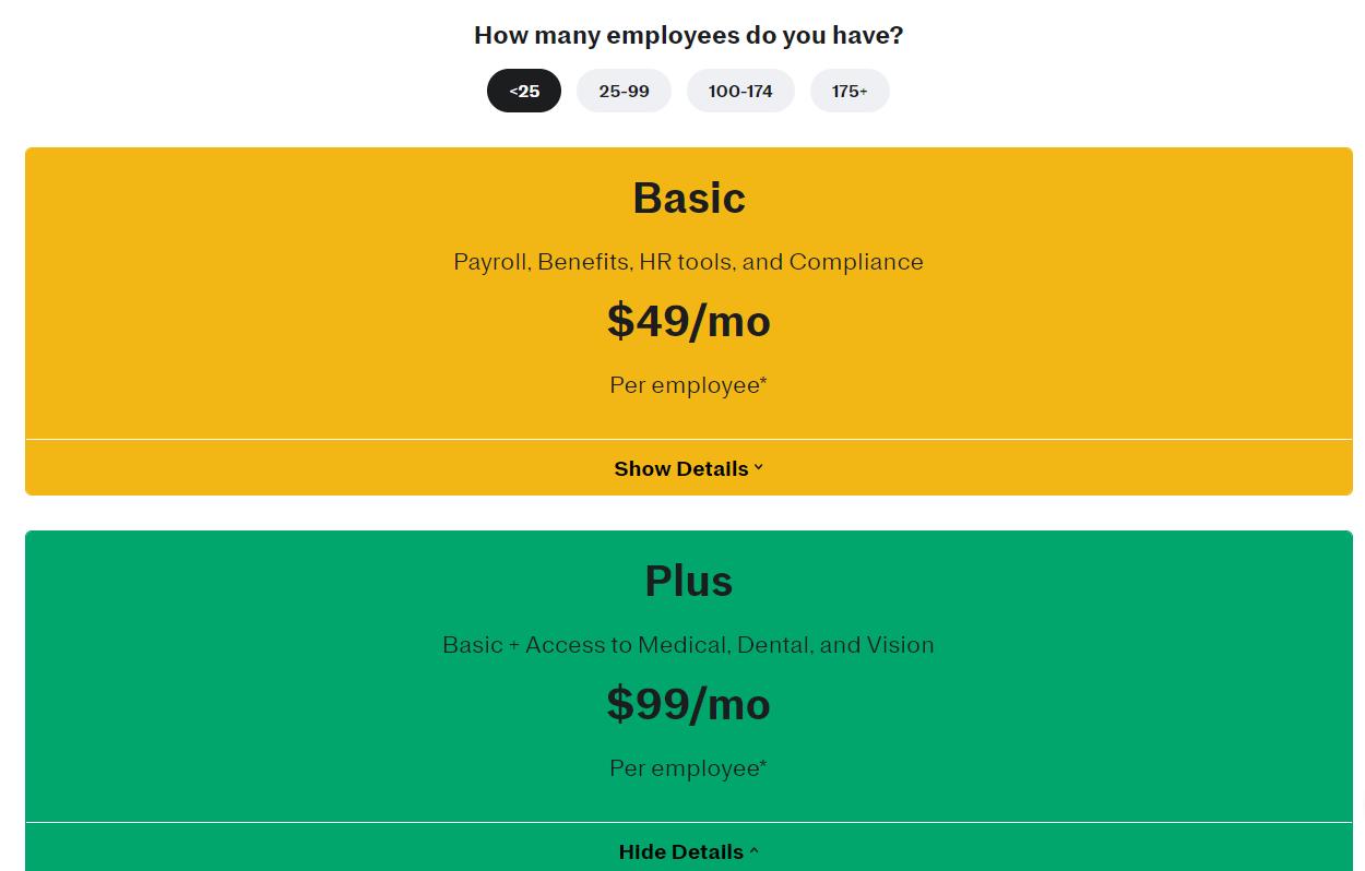justworks pricing