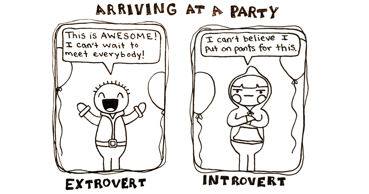 Introvert at a party