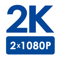 2K Super HD Resolution (2×1080p Full HD)
