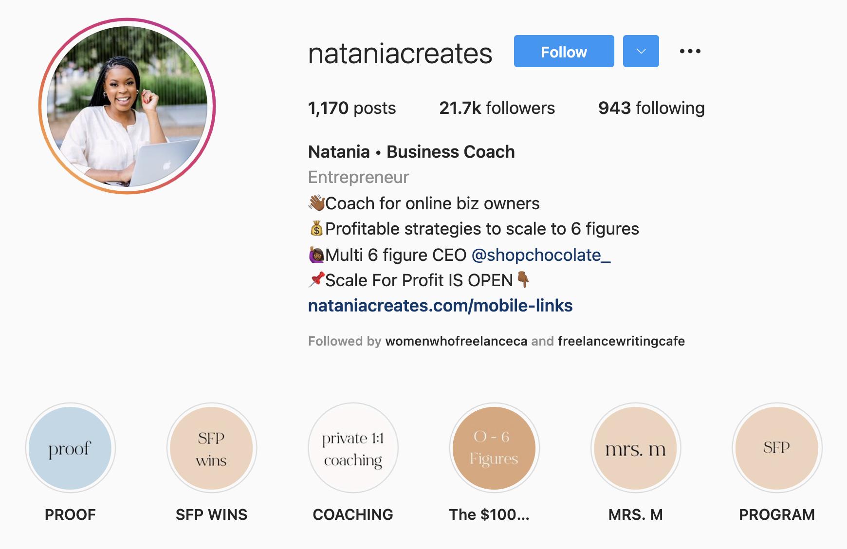 how to optimize your instagram bio