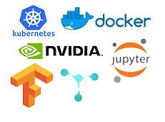 Logos of various technologies offered through DSMLP: Kubernetes, Docker, Nvidia CUDA, TensorFlow, PyTorch, Torch, Jupyter