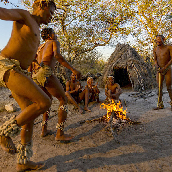 Bushmen fire dance