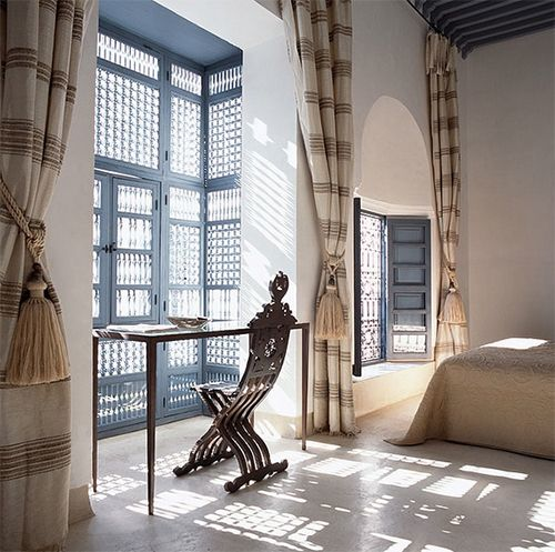 Bring Natural Light Into Your Moroccan Bedroom with Texture Windows