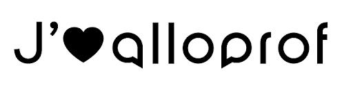 Autocollant J'aime Alloprof - Maximum 3 par commande