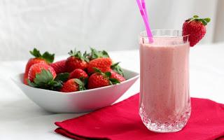 Resultado de imagen de milkshake de fresa
