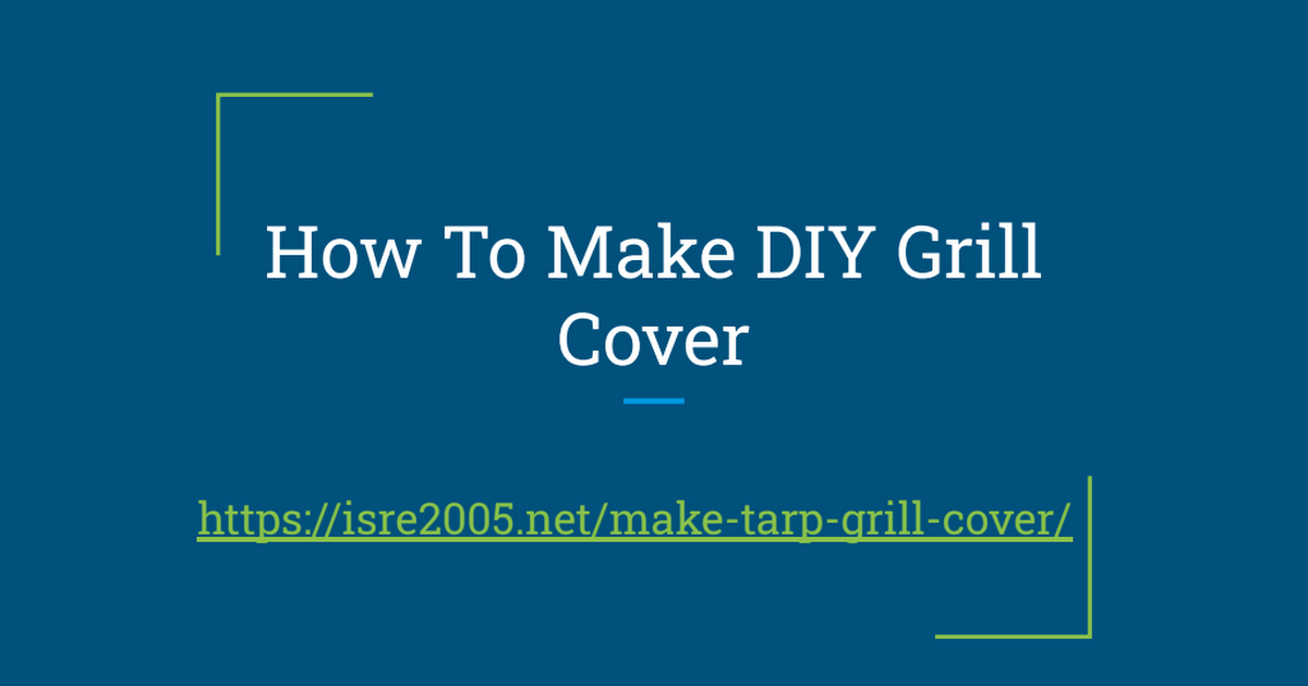 How To Make DIY Grill Cover cover image