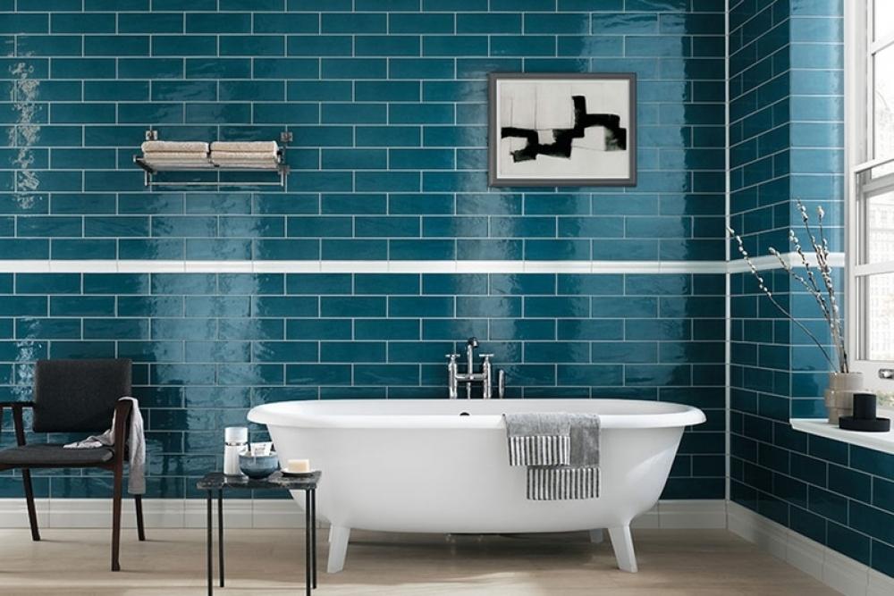 Gạch ốp tường làm cho không gian phòng tắm trở nên thoải mái