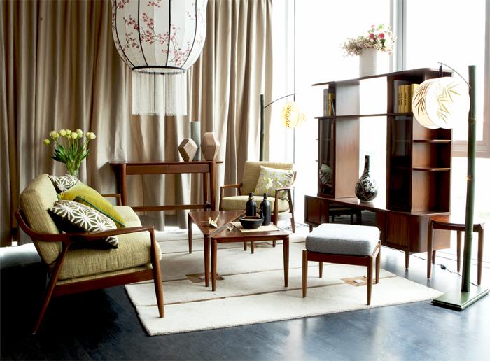 Phòng khách mang đậm phong cách Á Đông