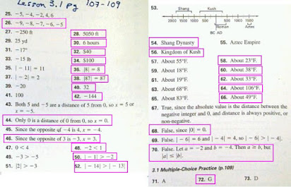 Texas homework and practice workbook mathematics course 3 answers